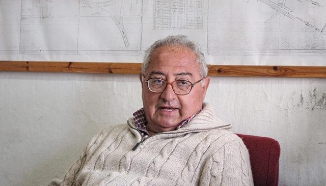 Μυλωνάκης_Ανδρέας, υπεύθυνος μουσείου και πρόεδρος του Συλλόγου Φίλων του Σιδηροδρόμου Θεσσαλονίκης.